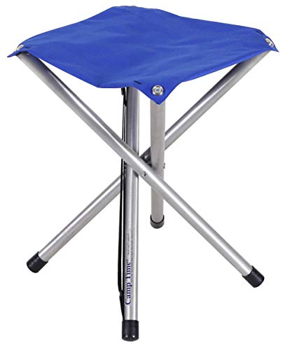 (Camp Time Jumbo Stool, Chair height Sitting Comfort, 300 pound capacity, Elegant folding design, 1.6 pounds with shoulder strap, USA Made)