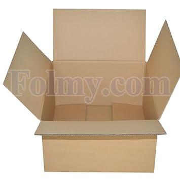 5 Caja de cartón plegable.250 x 175 x 100 mm, 1 ondulación.Cajas de Cartón. Cajas.Mudanza Cartón.Mudanza Cajas.: Amazon.es: Oficina y papelería