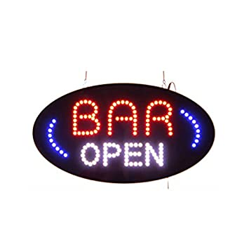 Bright Flashing Light Mode Advertisement Board Electric Display LED Open Sign for Business,19X10inch