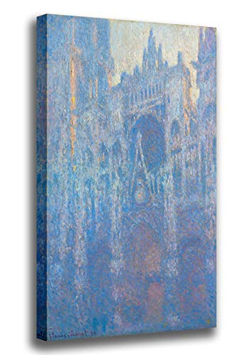Canvas Print Wall Art - The Portal of Rouen Cathedral in Morning Light - Claude Monet - Giclee Printed on Stretched Gallery Wrap - 12x18 inch