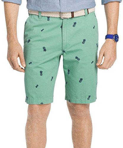 Creme Short (IZOD Men's Saltwater Flat Front Short, Crème De Menth, 42W)