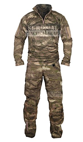 3dfe8507b61fd ZAPT Tactical Military Uniform Paintball Airsoft Hunting Army Camo Apparel  Shirt Pants Elbow Knee Pads Combat