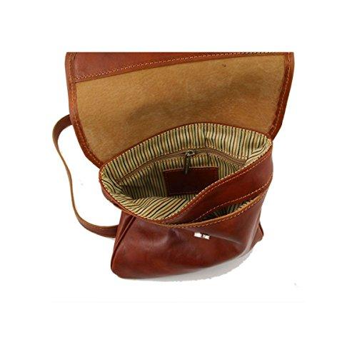 Tuscany Leather - Joe - Bolsillo unisex en piel Negro - TL140987/2 Marrón