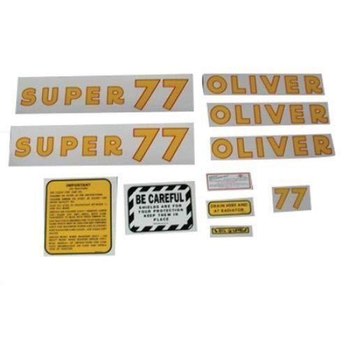 Tractor Decal Set, Oliver Super 77, Mylar