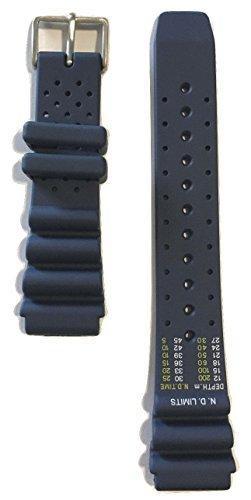 Citizen 59-S53155 59-S53197 Original Replacement Blue Rubber Watch Band Strap fits BN0150-10E BN0156-05E BN0150-28E BN0151-09L BN0151-17L BN0150-61E BN0156-56E 4-S100623 4-S097720 4-S097380 4-S100631