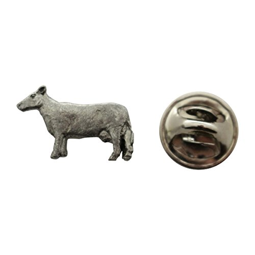 Sarah's Treats & Treasures Cow Mini Pin ~ Antiqued Pewter ~ Miniature Lapel Pin