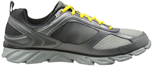 Fila Mens Stride 3 Running Shoe Metallic Silver/Pewter/Lemon B4fYy