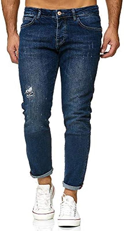 Red Bridge spodnie jeansowe męskie Regular-Fit Ripped TRBC Titan: Odzież