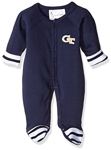 NCAA Georgia Tech Infant Footed Creeper, Preemie, diseño de rayas, color azul marino