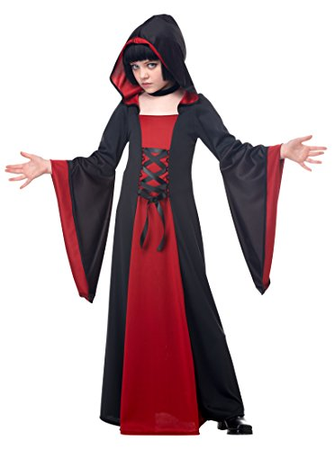 Black Hooded Costumes (California Costumes Hooded Robe Child Costume, Medium)