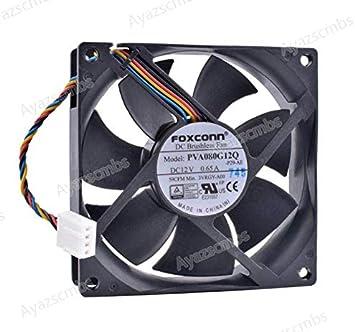 Ayazscmbs Compatible para PVA080G12Q 8cm 80mm Ventilador 8025 ...