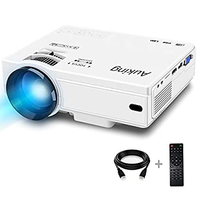 Mini Projector 2600 Lumens 2019 Upgraded Portable Video-Projector,55000 Hours Multimedia Home Theater Movie Projector,Compatible with Full HD 1080P HDMI,VGA,USB,AV,Laptop,Smartphone