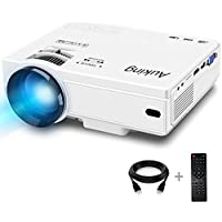 AuKing Full HD 1080p 2400-Lumens LED Home Theater Projector