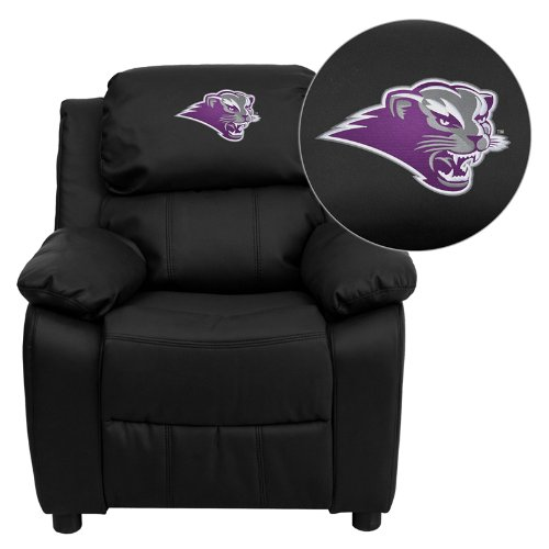 - Flash Furniture Southwest Baptist University Bearcats Embroidered Black Leather Kids Recliner with Storage Arms