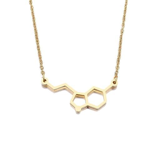 LPYBNW Collar de Mujer Collar de Acero Inoxidable Mujer ...