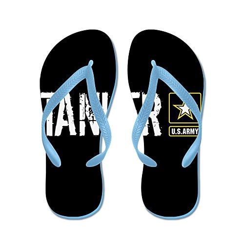 Cafepress Us Army: Tanker (black) - Chanclas, Sandalias Thong Divertidas, Sandalias De Playa Caribbean Blue