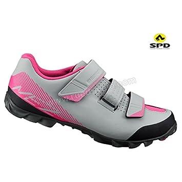 SHIMANO SHME2PG380WG00 - Zapatillas Ciclismo, 38, Gris, Mujer: Amazon.es: Deportes y aire libre