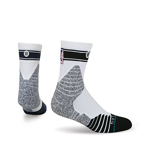 Stance NBA Quarter Height Bold Stripe Black/White X-Large (13-16)