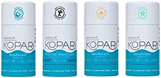 product image for Kopari Aluminum-Free Deodorant Combo 4 pack | Non-Toxic, Paraben Free, Gluten Free & Cruelty Free Men's and Women's Deodorant | Made with Organic Coconut Oil | 2.0 oz