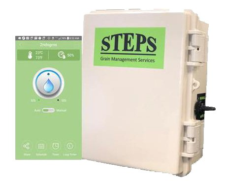 Grain Bin Fans - Grain Bin Monitoring, Greenhouse Monitoring, Livestock Barn Fan Controls, Temperature and Humidity Monitoring, Steps Smart Switch Lte