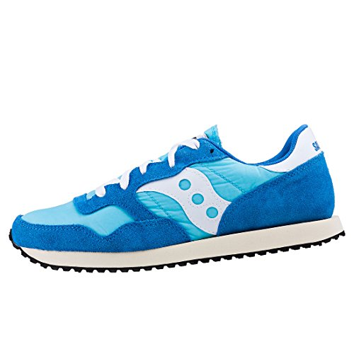 Saucony Mens DXN Vintage S70369-1 Suede Trainers Blue White