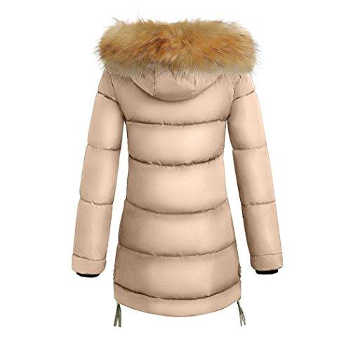 Femme Petite Capuche Doudoune Manteaux Kaki Hiver Parka Fausse OverDose Outwear Longue Fourrure CUIwdnUq