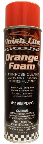 Scuba Foam - Finish Line Orange Foam All Purpose Cleaner - For Cars or Home