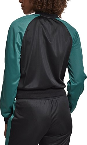 Jacket Multicolore Track Green Giacca Fire Black Raglan Urban Sportiva 01225 Red Ladies Donna Classics Short zwqx4gX