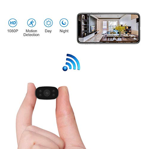 Hidden Security Cameras HUOMU Mini spy cam 1080P HD Wireless WiFi Remote View Tiny Home Surveillance Cameras Indoor Outdoor Video Recorder Smart Motion Detection