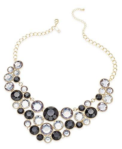 INC International Concepts Gold-Tone Multi Circle Bib Statement Necklace, 18
