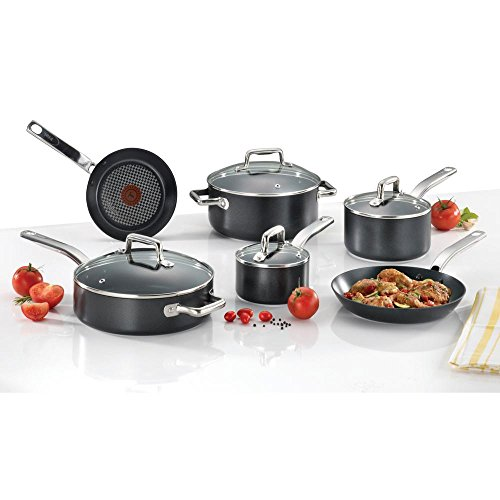 T-Fal/Wearever 10 Piece Professional Cookware Set, Multi, Black by T-fal