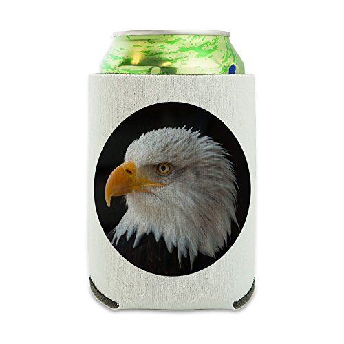 Stoic Bald Eagle Can Cooler - Drink Sleeve Hugger Collapsible Insulator - Beverage Insulated Holder