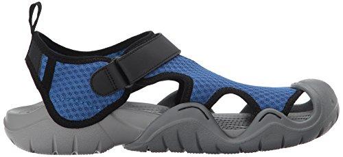 Crocs Swiftwater Sandal M, Sandali Uomo Blu (Blue Jean/Slate Grey)