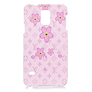 Floral Design Louis Vuitton Pattern 3D Hard Plastic Case Cover Snap on Samsung Galaxy S5