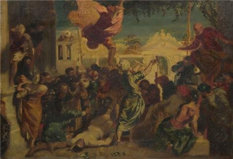 Oil Painting 'After Jacopo Tintoretto - The Miracle Of Saint Mark,probably 19th Century' Printing On Perfect Effect Canvas , 10x15 Inch / 25x37 Cm ,the Best Laundry Room Gallery Art And Home Decoration And Gifts Is This Best Price Art Decorative Prints On Canvas