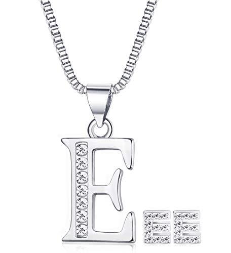 JOERICA Women Girls Jewelry Set Letter Necklace and Earrings ()