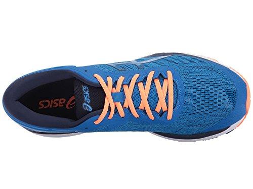 ASICS Men's Gel-Kayano 24 Running-Shoes, Directoire Blue/Peacoat/Hot Orange, 9 Medium US