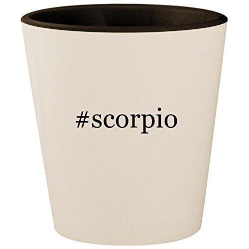 #scorpio - Hashtag White Outer & Black Inner Ceramic 1.5oz Shot ()