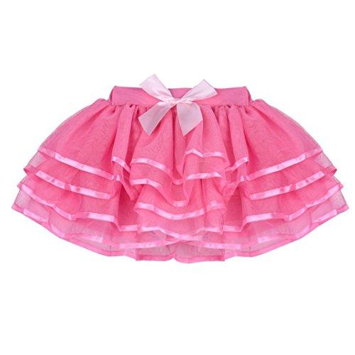 Cropped Bubble Jacket (Elevin(TM)Toddler Girls Summer High Waist Mini Gauze Bowknot Bubble Pincess Dance Skirt (Age:8-9Y,)