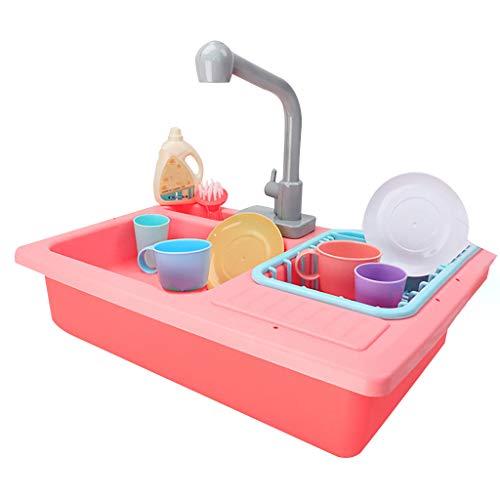 Kintaz Color Changing Kitchen Sink Toys Children Heat Sensitive Thermochromic Dishwash for Baby Child (Pink) -
