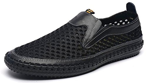 Walking Casual for Shoes On Men's Mesh Slip Shoes Black Loafers Water 1q4X6wnWw