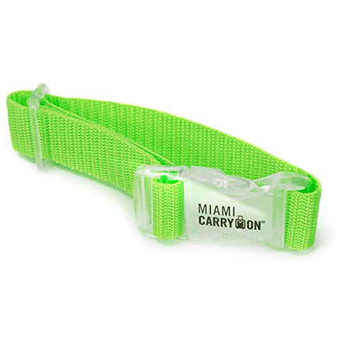 Miami CarryOn Add a Bag Strap – Attach your Bag to your Carry-on Suitcase (Green, 1-Piece)