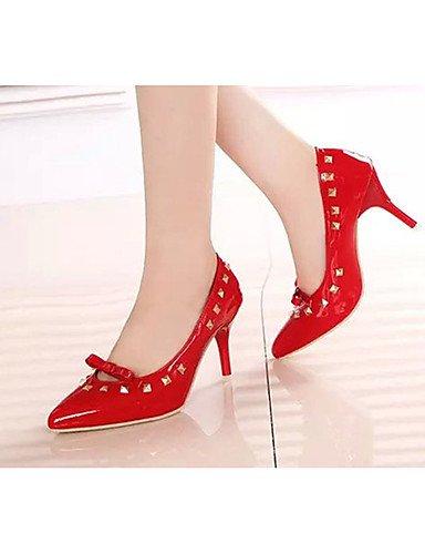 GGX/Damen Schuhe PU Sommer Heels Heels Casual Stiletto Heel andere schwarz/rot/grau red-us7.5 / eu38 / uk5.5 / cn38