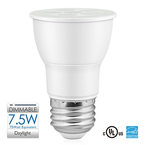 SUNEON Par16 Led Bulb Daylight 5000k Dimmable Spot Light - 7.5w 75watt Equivalent - 120v Ul-listed and Energy Star