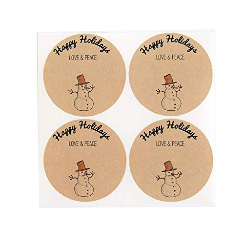 Snowman Stickers for Canning Jars by Once Upon Supplies, Christmas Holiday Gift Labels, 2.5