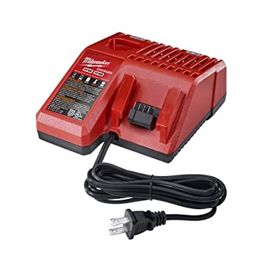 Milwaukee 48-59-1812 M12 or M18 18V and 12V Multi Voltage Lithium Ion Battery Charger w/ Onboard Fuel Gauge