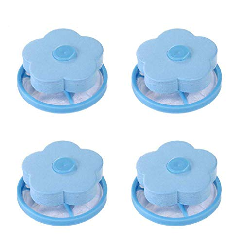 Susun Floating Pet Fur Catcher Filtering Hair Removal Device Wool Cleaning Supplies (Blue)