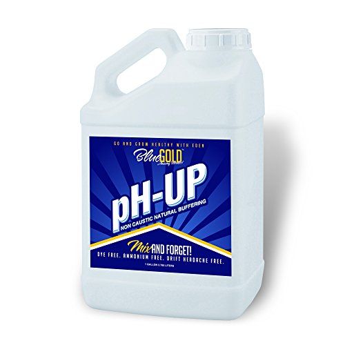 Guaranteed Results Blue Gold pH Up Concentrate Non Caustic No Drifting Organic Professional & General Hydroponics & Nutrient Reservoir Tanks & Pool Hot Tub. 13.8 - 14 pH. 1 Gallon (Drop Down Pool)
