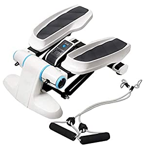 NILINLEI Aerobic Fitness Stepper, 2in1 Stepper with Power Ropes Up Down Mini Stepper with Trainer Ropes Resistance Bands…