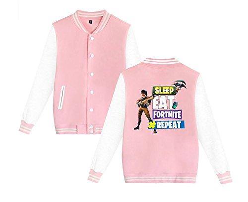 Aivosen Per Comode Da Pink3 Sweatshirts Casual Moda Donne Fortnite Allentato E Leggera Stampate Giacca Uomini Unisex Baseball rwqBrAT